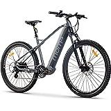 """Moma Bikes Bicicleta Eléctrica E-MTB 29"""", Shimano 24vel, frenos hidráulicos, batería Litio 48V 13Ah (624Wh)"""