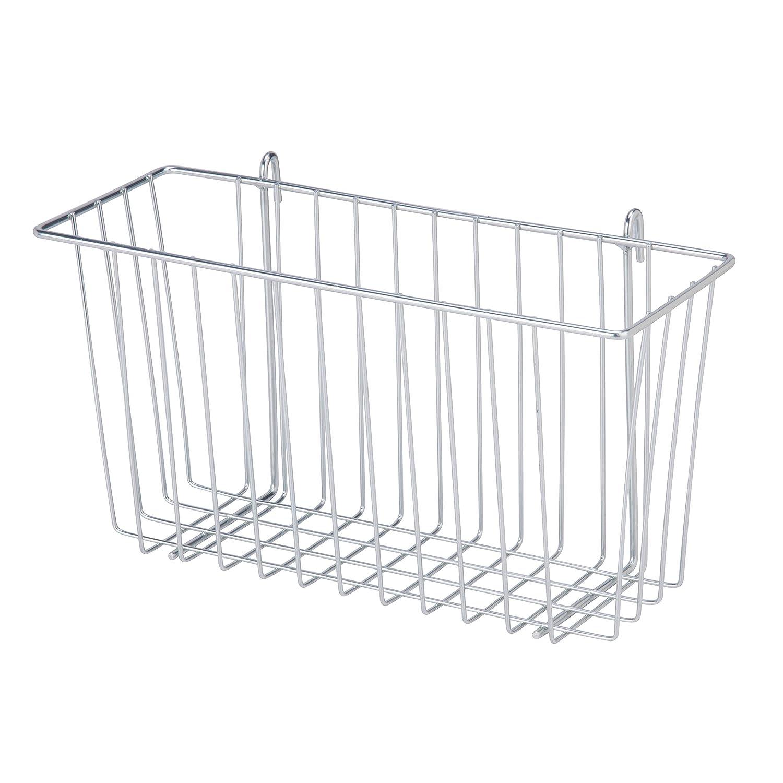 Honey-Can-Do SHF-04056 Steel Wire Accessory Basket, Chrome, 13.39L x 5W x 7.6H
