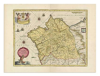 Map Of Spain Vigo.Amazon Com The Blaeu Prints Galicia Spain Galicia Historical