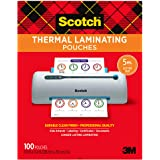 Scotch Thermal Laminating Pouches, 5 Mil Thick for Extra Protection, 100-Pack, 8.9 x 11.4 inches, Letter Size Sheets, Clear (