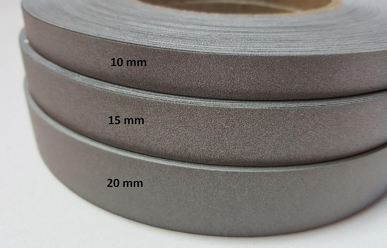 10mm 1,32 EUR//m silber 5 Meter Reflektor//Leuchtband