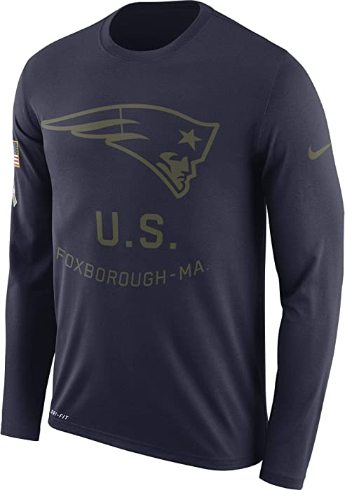 5645bc660 Nike Men s New England Patriots Legend Long Sleeve STS Tee College Navy  Size Medium