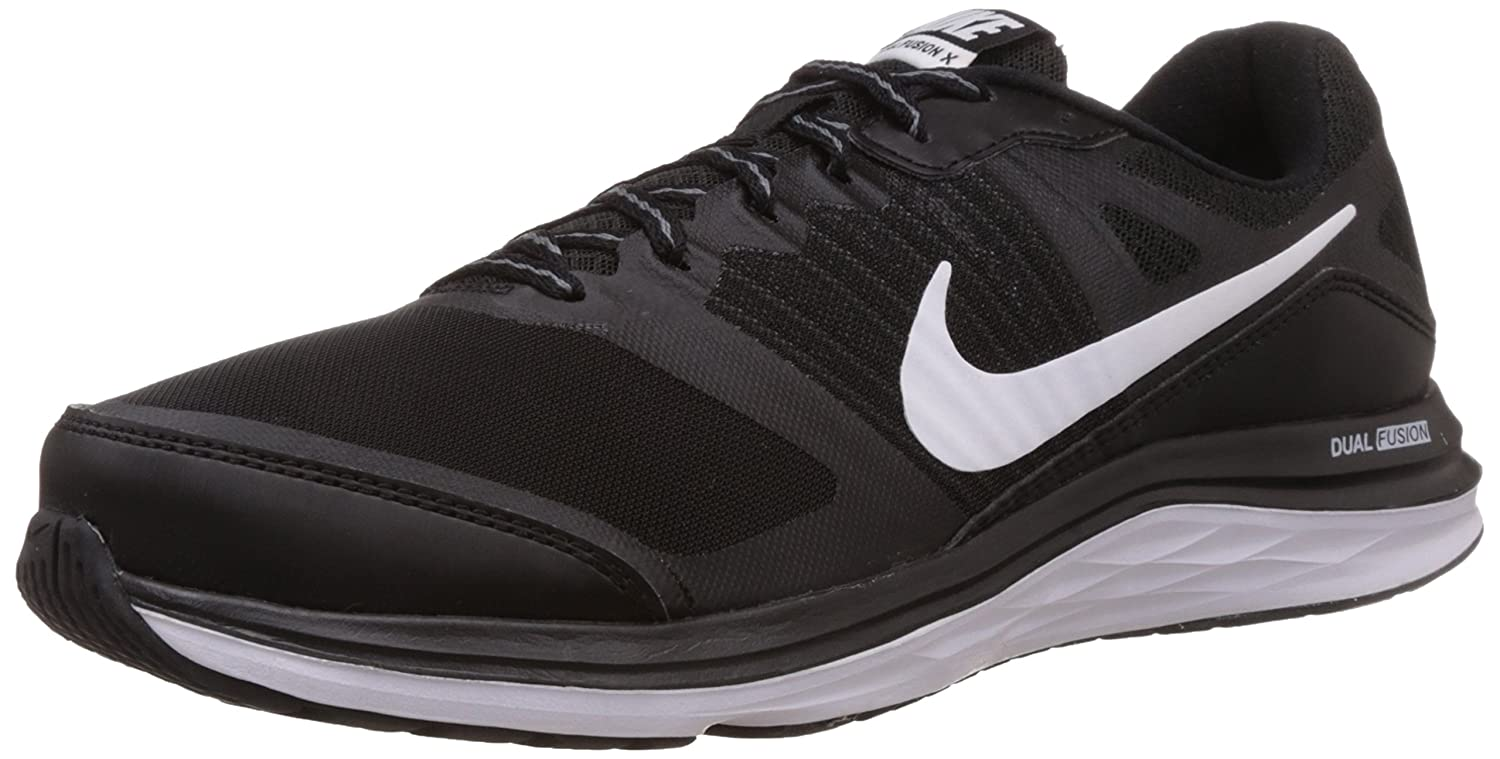 sports shoes 52ef0 0a95b Nike Mens Dual Fusion X MSL Black, Bright Crimson, Dove Grey, White  Running Shoes -12 UKIndia (47.5 EU)(13 US) Buy Online at Low Prices in  India ...