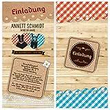 Einladungen (30 Stück) U2013 Dirndl Und Lederhose   Oktoberfest Frühschoppen Geburtstag  Einladungskarten