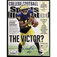 $137 » Denard Robinson Signed Sports Illustrated 9/13/12 No Label Michigan Auto JSA - Autographed College Magazines
