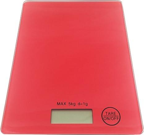Báscula de cocina digital de 5 kg - Colour Rojo