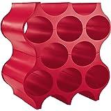 Koziol Porta Bottiglie, Rosso Lampone, 3596583
