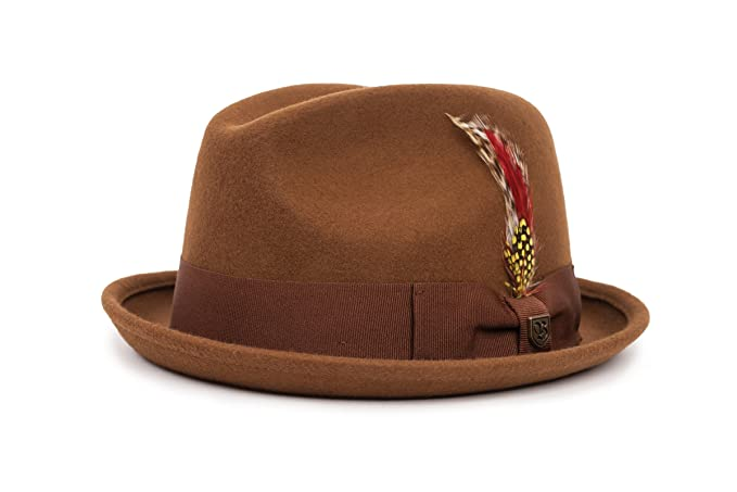 5fdcd7a61b4 Brixton Men s Gain Fedora  Amazon.co.uk  Clothing