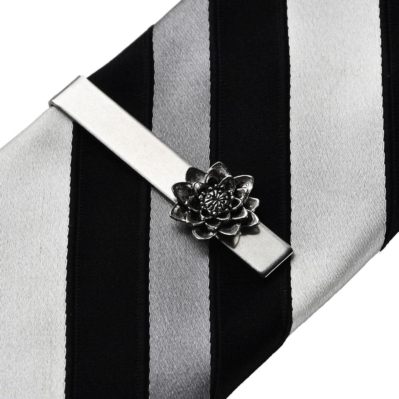 Quality Handcrafts Guaranteed Lotus Tie Clip