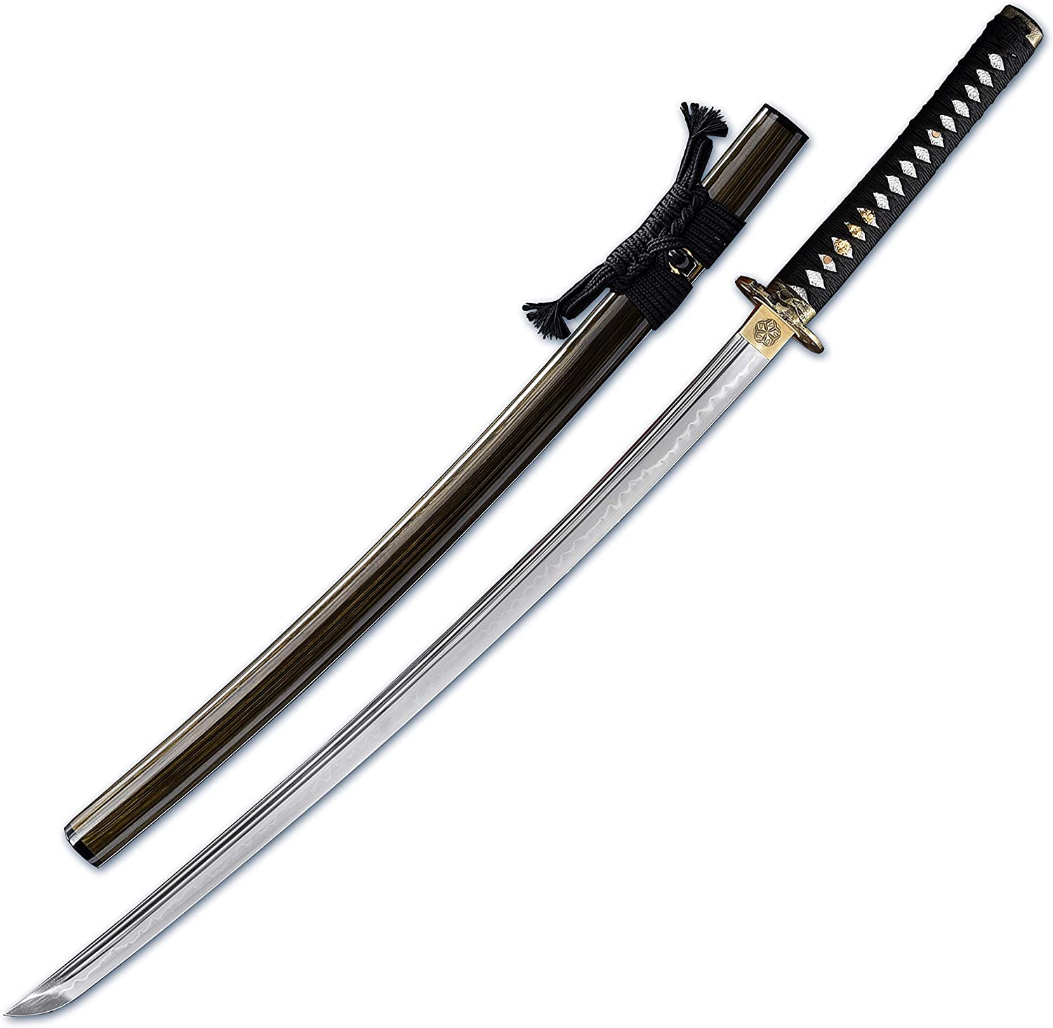 MURASAME Japanes Katana Sword Clay Tempered T10 Steel Razor Sharp Battle Ready Samurai