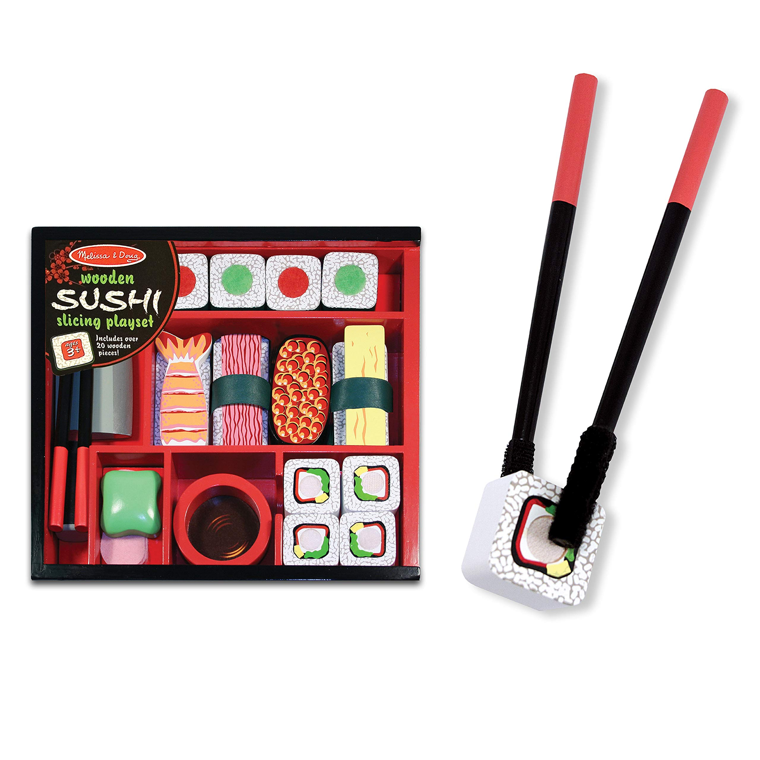 Melissa & Doug Sushi Slicing Play Set Multi Colored, H: 10 x W: 9 x D: 2                Iwako Japanese Bento Lunch Eraser Set                Sushi Go! - The Pick and Pass Card Game                HABA Sushi Play Set