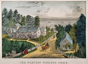 Currier & Ives Farm House NThe Western FarmerS Home Lithograph 1871 By Currier & Ives Poster Print by (18 x 24)