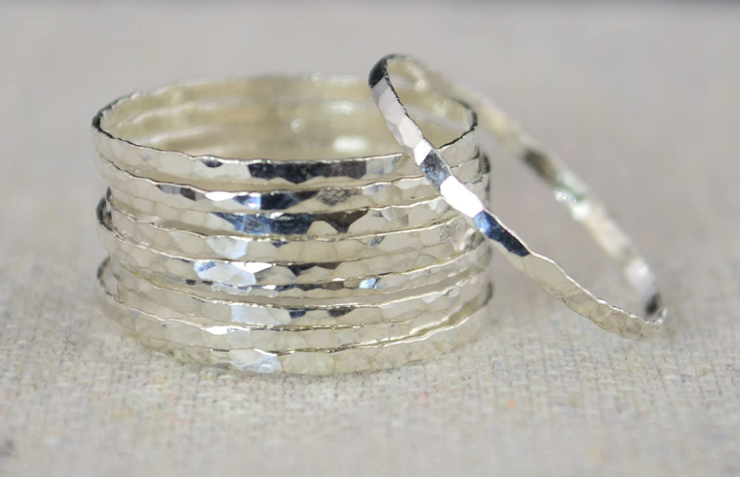 Super Thin Pure Silver Stacking Rings (sold per ring)
