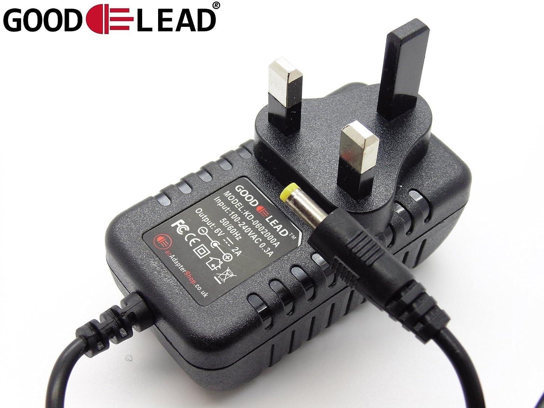 GOOD LEAD Sony Radio 6V 2A 2.0A 2000mA ICF SW7600GR Mains AC DC Adapter Power Supply UK
