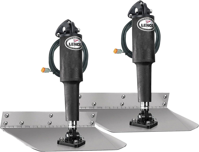 "Lenco 15001-101 Electric Standard Mount Trim Tab Kit Without Switch - 9"" x 12"""