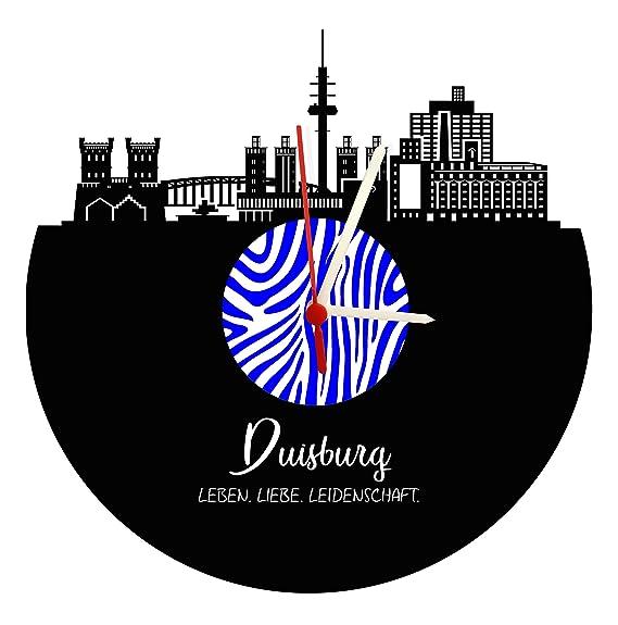 Reloj De Pared Duisburg Skyline, Zebra, placa acústica Reloj con mecanismo de cuarzo, regalo único, fabricado en Alemania,: Amazon.es: Relojes
