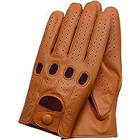 Riparo Motorsports Men's Genuine Leather Full-Finger Driving Gloves X-Small Tan