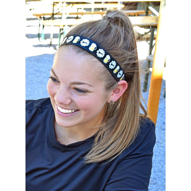 Sweaty Bands Womens Girls Headband - Non-Slip Velvet-Lined Athletic Hairband - Bottom's Up by Sweaty Bands (Image #3)