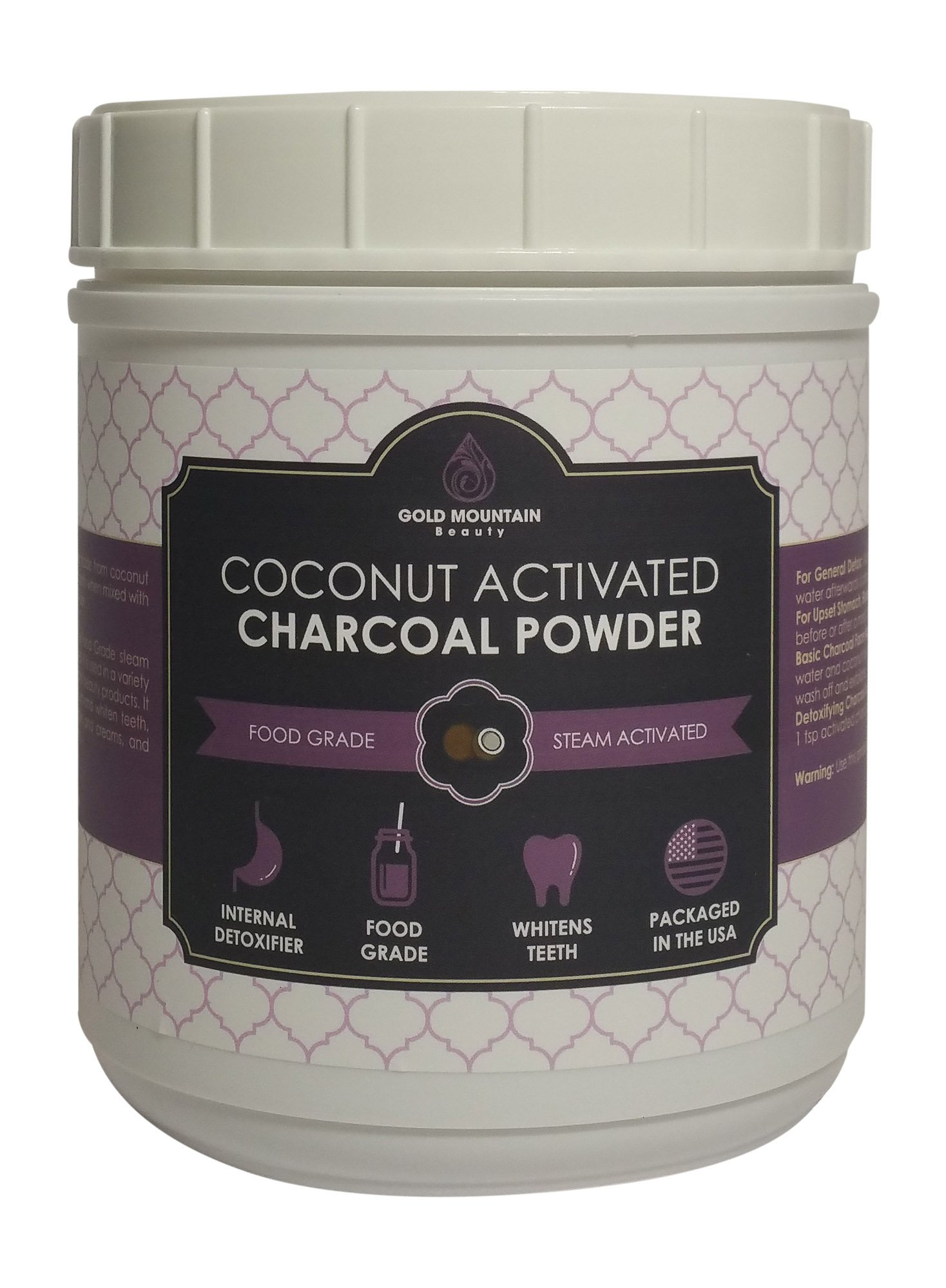Coconut Activated Charcoal Powder, Detoxifies Better Than Hardwood. A Premium Food Grade with Neutral pH, High Adsorption Capacity, and Efficiency (8 oz)