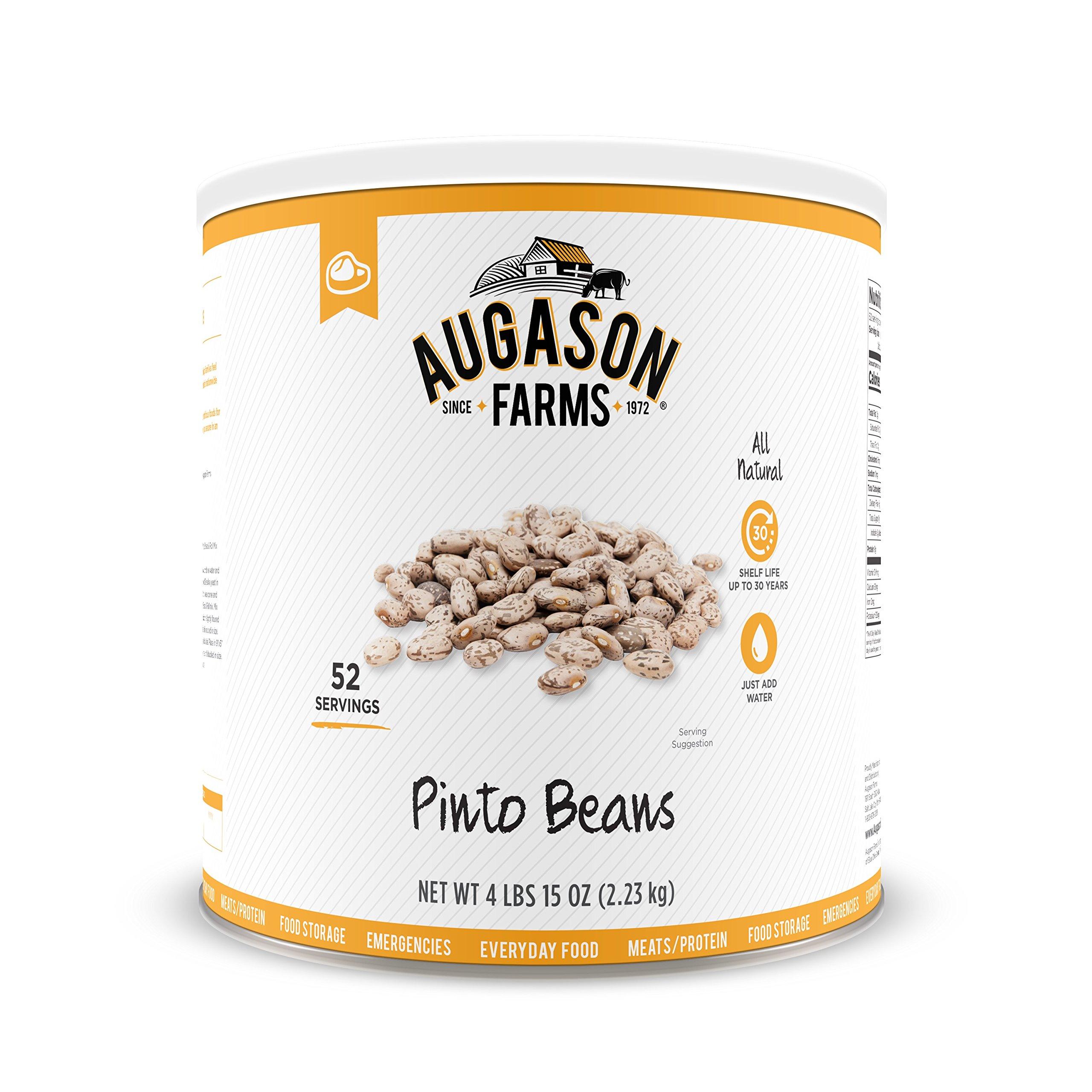 Augason Farms Pinto Beans 4 lbs 15 oz No. 10 Can by Augason Farms