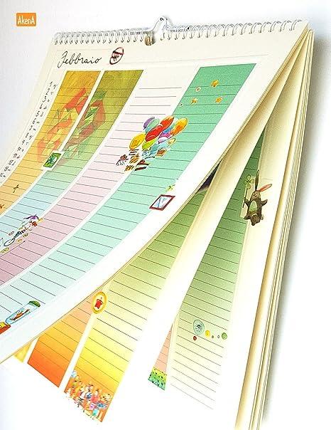 Goccioline Calendario.Calendario Della Famiglia Spirale Da Parete 2018 Goccioline