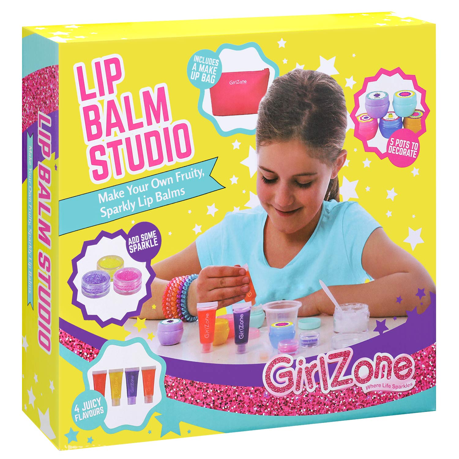 Make Your Own Lip Balm Kit for Girls - 22 Piece Fun Makeup Set - Birthday Present Gift for Girls Ages by GirlZone