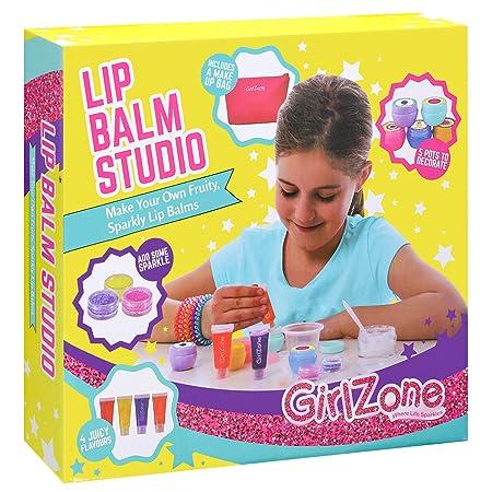 GirlZone: Lip Gloss Kit Make Your Own Lip Balm Fun Makeup Set for Girls