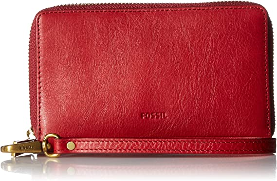 Fossil Emma - Funda tipo cartera para smartphone, Rojo (Rojo ...