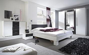 Schlafzimmer-Set VERA Schwebetürenschrank Kommode Nachttisch Bett ...