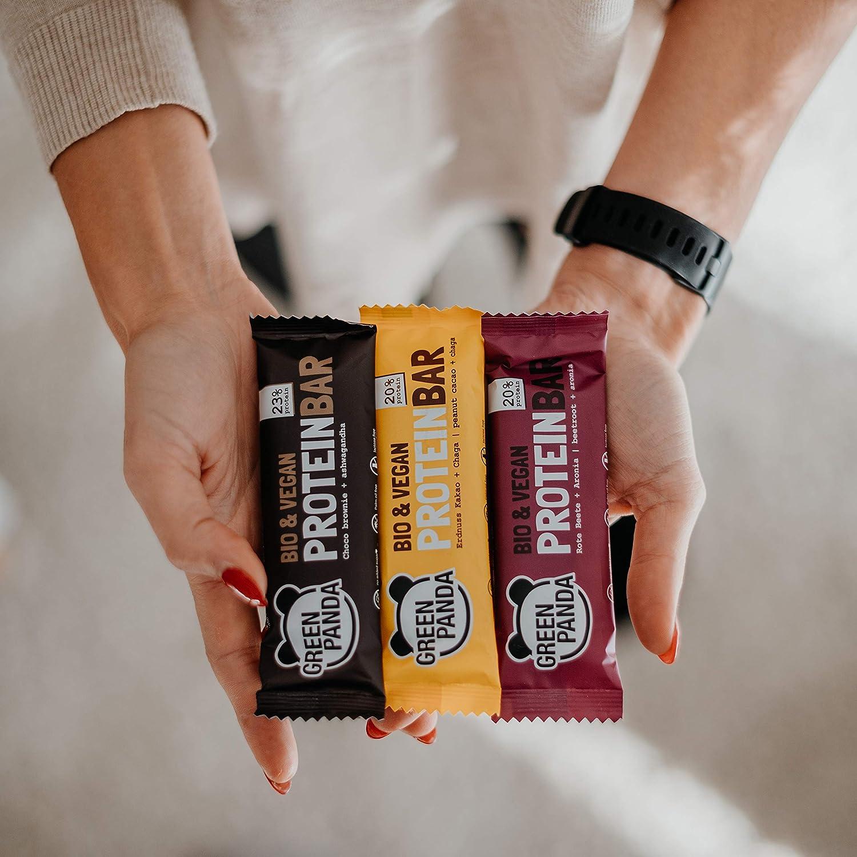 Barritas proteicas veganas sin azúcar con mas del 20% de proteínas vegetales (proteínas de semillas de calabaza, cáñamo y semillas de girasol), ...