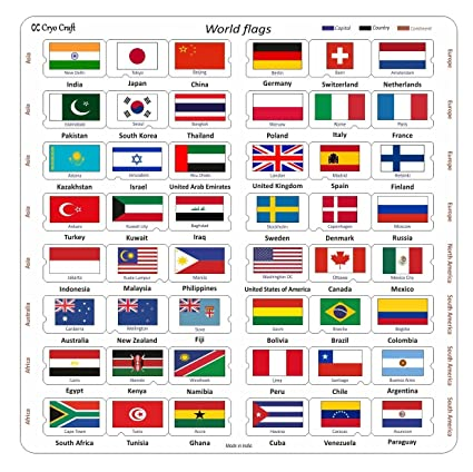 Buy cryo craft wooden world flag puzzle board 48 countries 29 x 29 cryo craft wooden world flag puzzle board 48 countries 29 x 29 x 06 freerunsca Choice Image