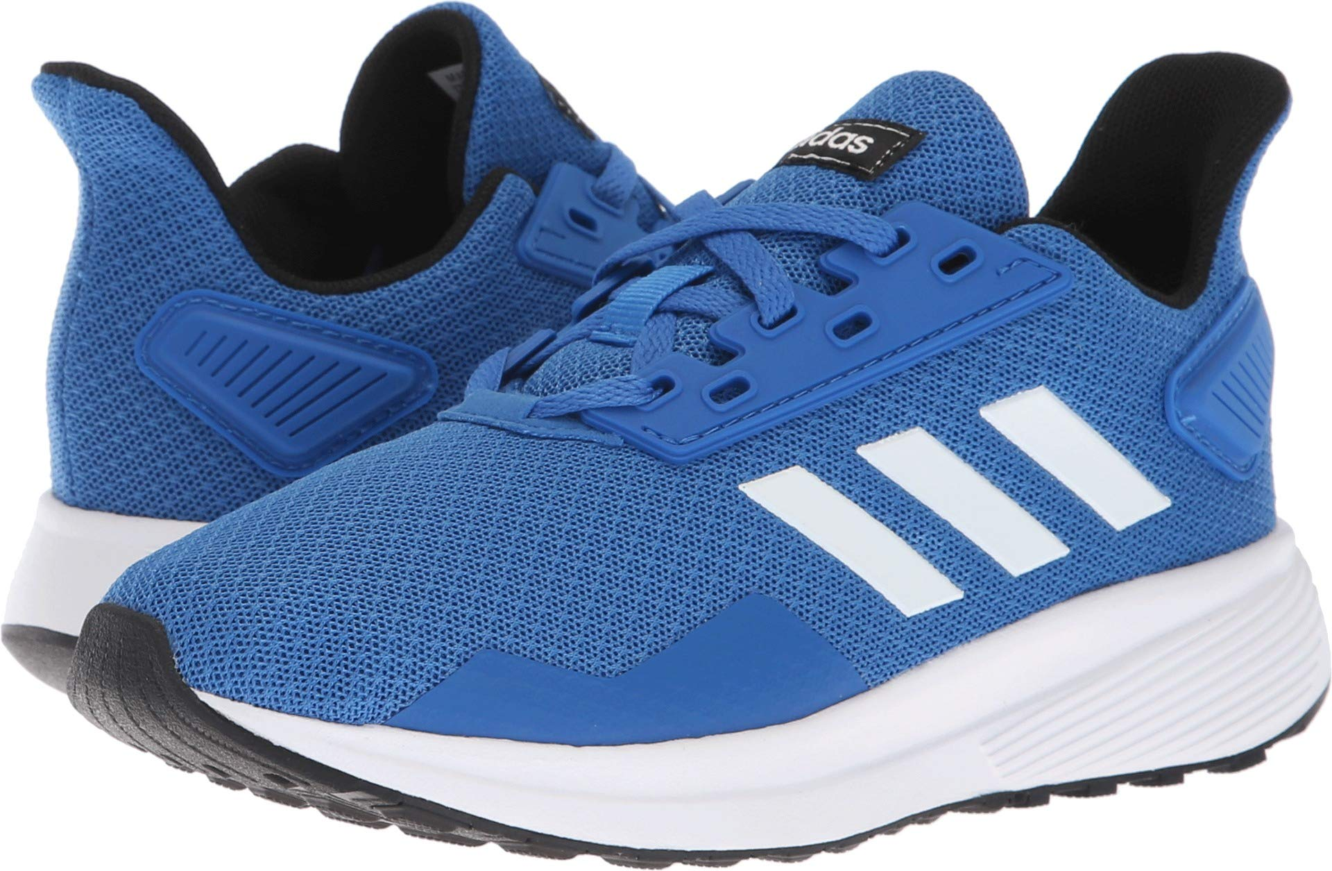 adidas Unisex-Kid's Duramo 9 Running Shoe, Blue/White/Black, 1.5 by adidas