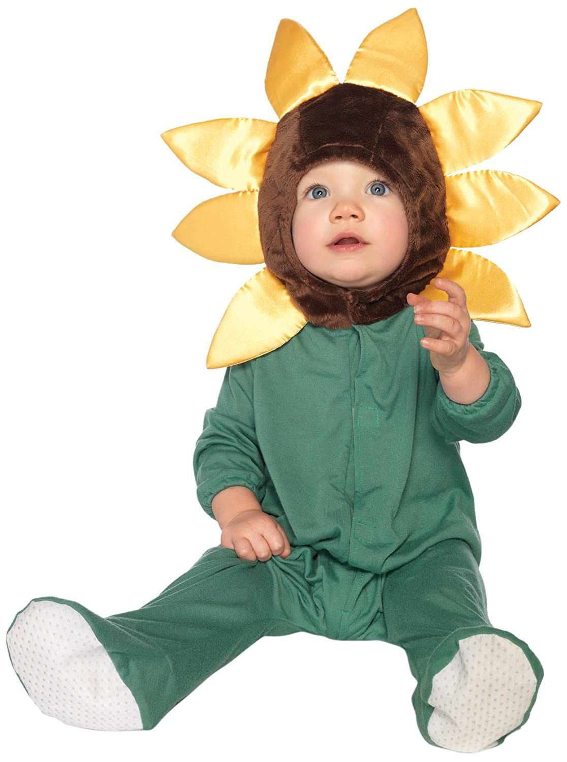 Leg Avenue Baby Sunflower Hooded Bodysuit with Non-Skid Soles Velcro Closure