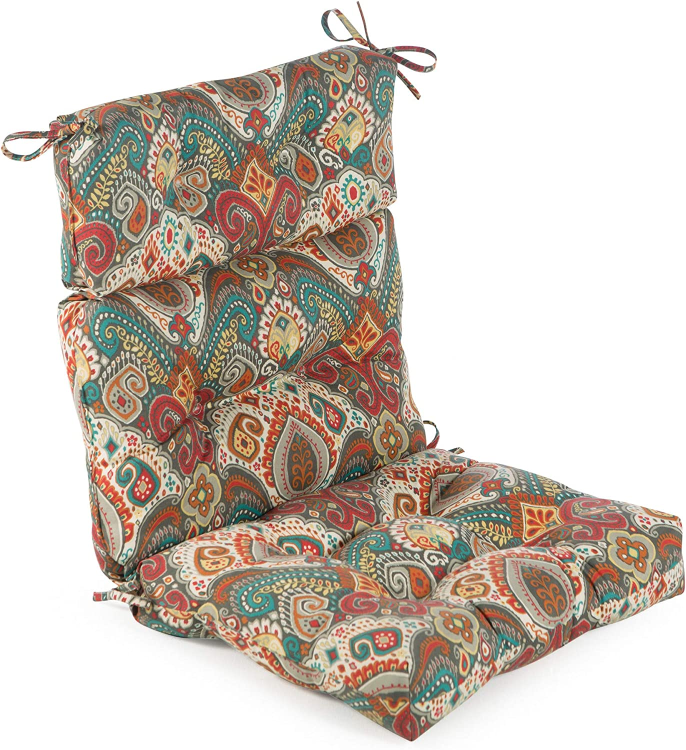 Greendale Home Fashions AZ4809-ASBURYPARK Painted Desert 44'' x 22'' Outdoor Seat/Back Chair Cushion