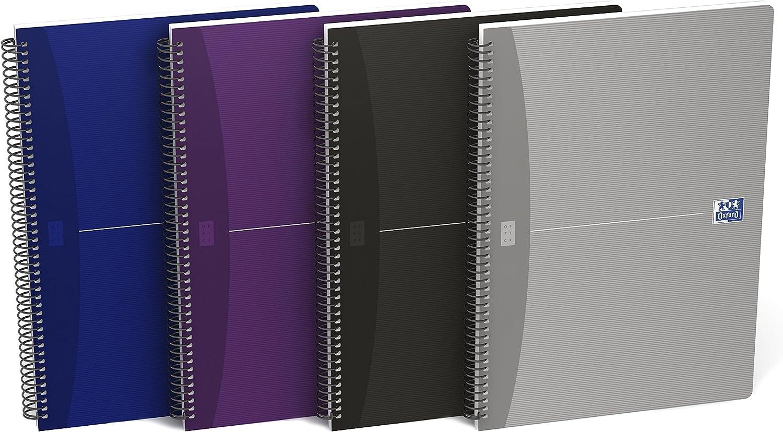 Oxford Essentials 100430139 - Pack de 5 cuadernos espiral, tapa blanda, 4º: Amazon.es: Oficina y papelería