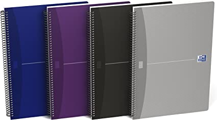 Oxford Essentials 100430139 - Pack de 5 cuadernos espiral, tapa ...
