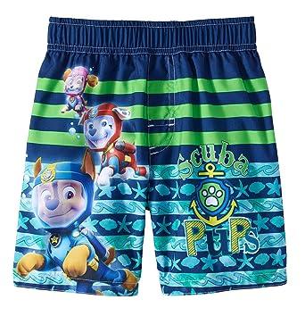 73f76fed82351 Fashion Toddler Boys Paw Patrol Scuba Pups Navy & Green Swim Short Trunk -  5T,