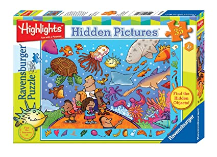 Amazon Com Ravensburger Highlights Something S Fishy 35 Pieces