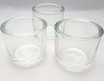 Teelichthalter kerzenhalter glas votivkerzen kerzenglas