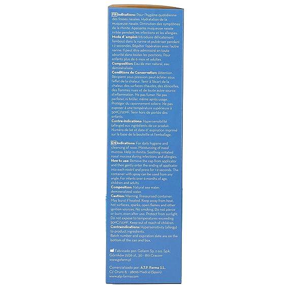 Senti2 Spray Nasal de Agua de Mar Solución Isotónica para Todas las Edades100 ml: Amazon.es: Belleza