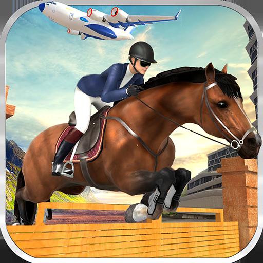 Cargo Plane Horse Transporter Zoo Animal Airplane Pilot Transportation Simulator 3D: Wild Animal Transport Flight Cargo Plane Simulator Games Free For Kids 2018