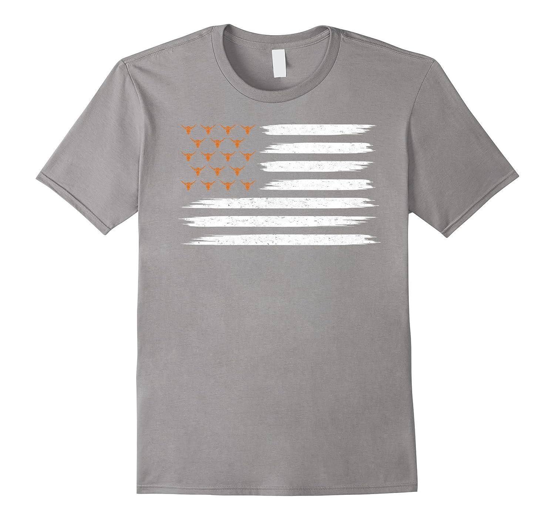 Vintage Texas United Longhorn Flag T-shirt-FL