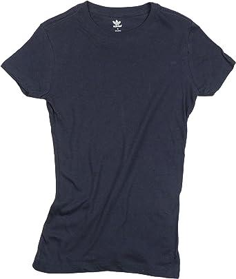 adidas para mujer 100% algodón camiseta de metro, Marino: Amazon.es: Deportes y aire libre