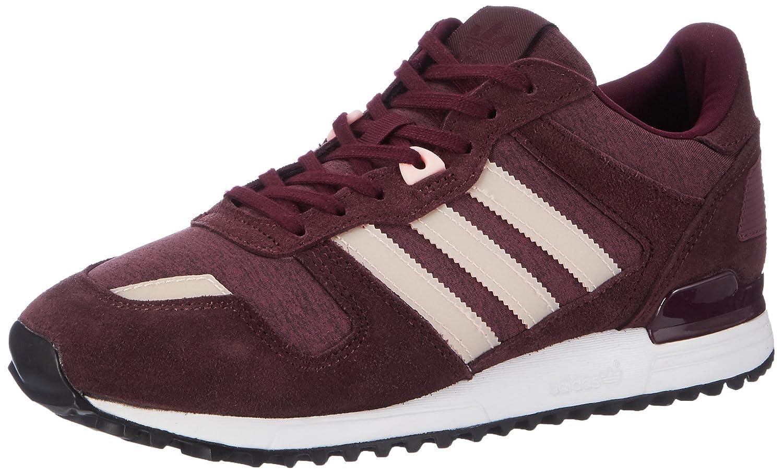 Adidas ZX 700, Zapatillas para Mujer 43 1/3 EU|Marrón (Maroon/Haze Coral/Night Red)