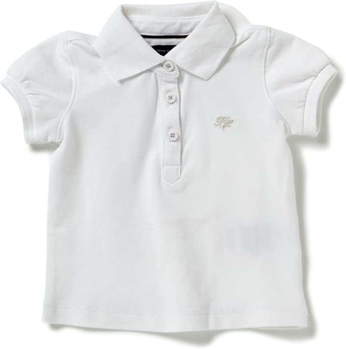 Tommy Hilfiger - Polo Mini con Cuello de Polo para niña, Talla 4 ...
