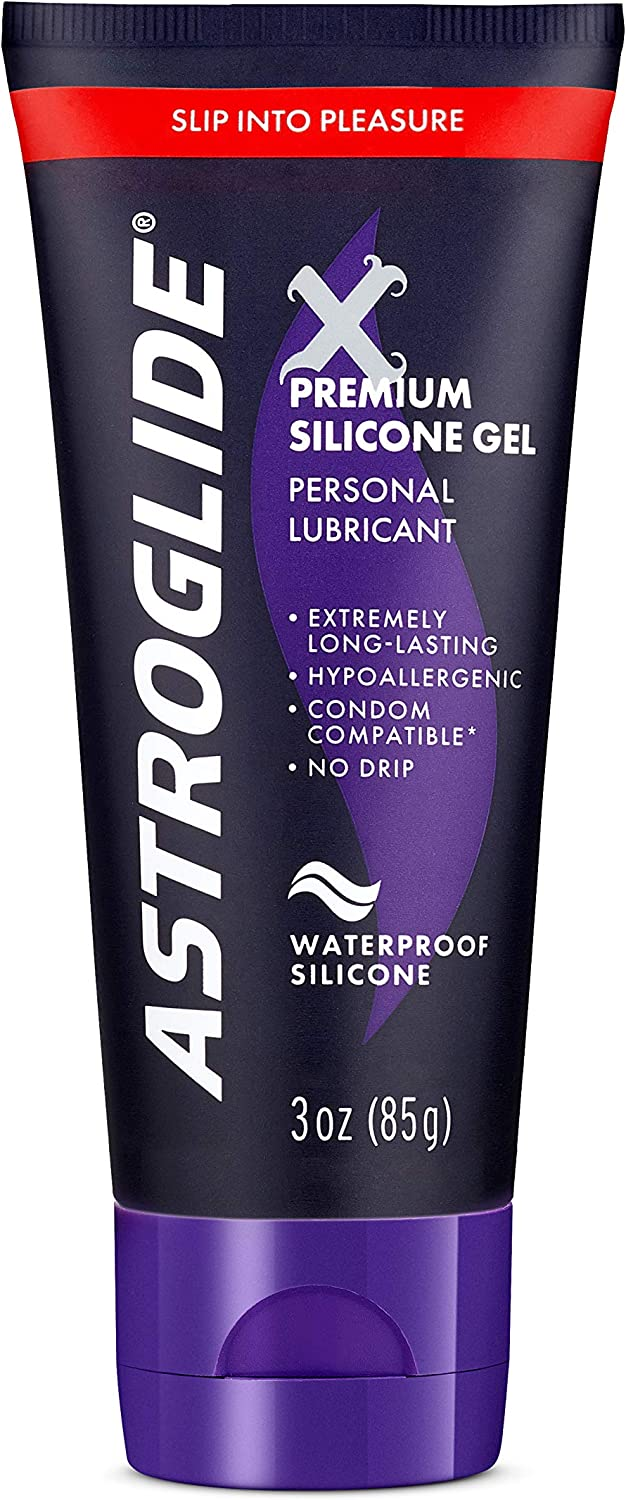 Astroglide X, Premium Waterproof Silicone Gel Personal Lubricant, 3 Ounce