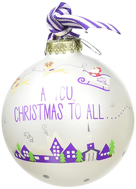 Image Unavailable - Amazon.com: Coton Colors Santa's A TCU Fan Glass Ornament: Home