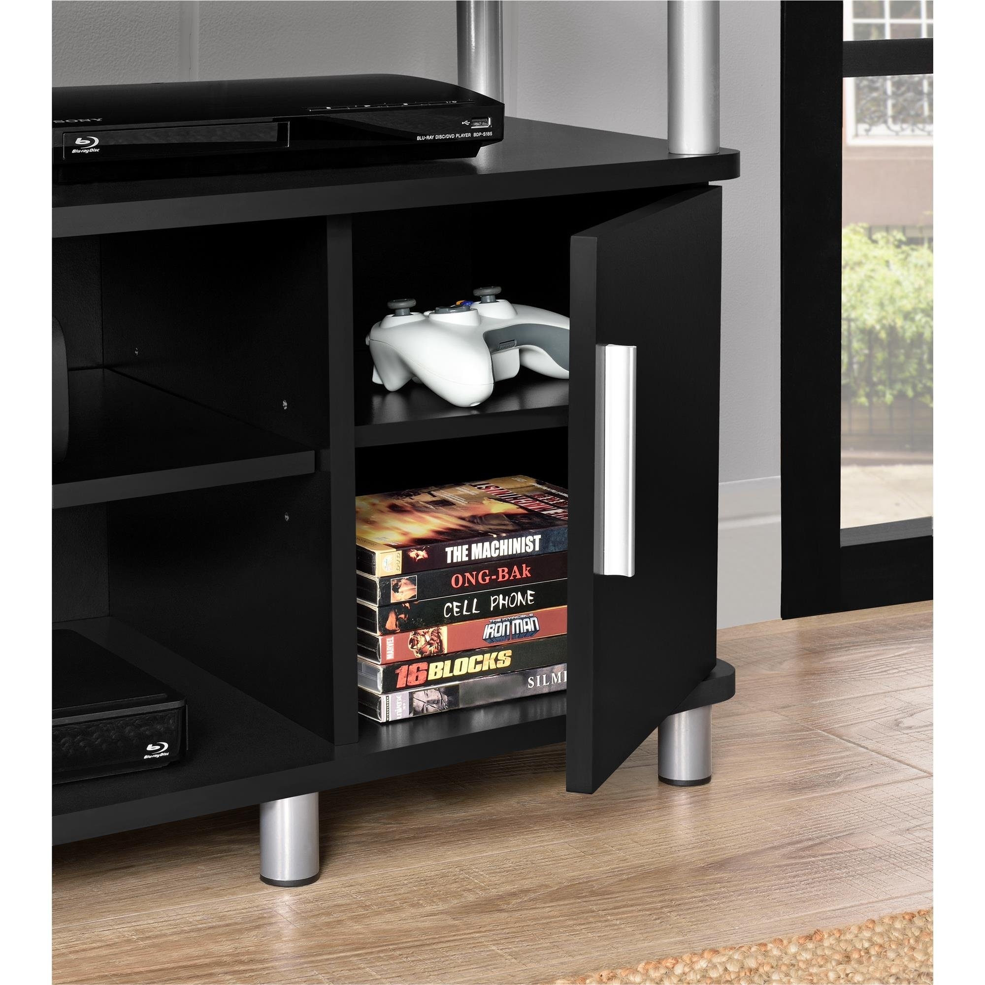 Ameriwood Home Carson TV Stand for TVs up to 50'', Black