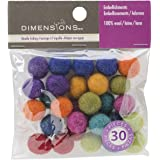 Dimensions Crafts 72-74019 Wool Ball Assortment for Needle Felting, Mini