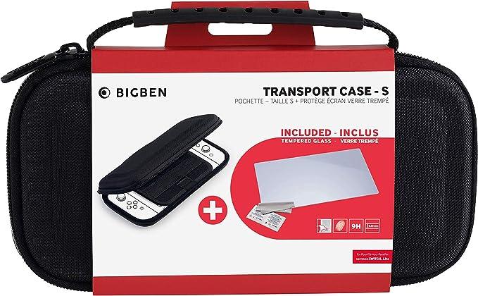 Big Ben - Accesorios Nintendo Switch Lite - Bigben Transport Case-S, Funda, Cristal Templado: Amazon.es: Electrónica